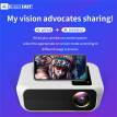 Android7.0 Video Projector HD 1080P Smart WiFi Wireless LED Home Movie  HDMI