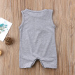 Newborn Toddler Infant Baby Boy Letter Printed Romper Loose Jumpsuit Outfits Summer Sleeveless Sunsuit Clothes