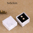 1pcs White Good Different Size Marbling Kraft Paper Box For Earring/Ring/Bracelet/Necklace Jewelry Gift Bag/ Box