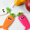 Cute Radish Shape Ceramic Paring Knife Kitchen Knife Apple Slicer Peeler Fruit Vegetable Tool 3 colors 13.5x7.4cm