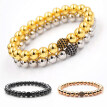 Men's Women's Vintage Jewelry Charm High Elastic Round Beads Bracelet Bangle
