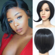 Fashion Synthetic Short Straight BOB Black Color Women's Wigs Natural Hair Wigs