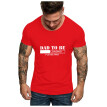 Men Father's Day O Neck Short Sleeve Print T Shirts Tops Blouse