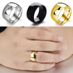 Men Women Titanium Stainless Steel Band Ring Wedding Engagement Lover Jewelry