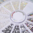 3D Acrylic Nail Art Tips Decoration Flat Back Glitter Rhinestones Pearls Beads