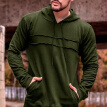Solid Patchwork Men Hoodies Sweatshirt 2019 Streetwear Fashion Casual Long Sleeve Spring Autumn Mens Slim Fit Coat
