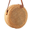 Multi-purpose Beach Rattan Bag Makeup Organizer Cosmetics Shopping Women Straw Storage Tote  Summer Handbag Shoulder Bag