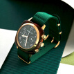 BRISTON watch classic timing men and women neutral quartz couple watch 40mm gold circle green plate 15140.PYA.T.10.NBG