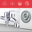 3-Way Washing Machine Faucet Copper Alloy Multifunction Water Tap Garden Bibcock