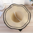 Women Beach Straw Hat Jazz Sunshade Panama Trilby Fedora Hat Gangster Cap