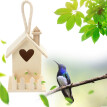 Hummingbird House Wood Wooden Hanging Standing Birdhouse Outdoor Garden Decor