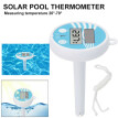 Solar Powered Digital Thermometer Accurate Water Temperature Gauge Measure Tool