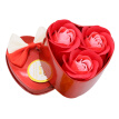 3Pcs Artificial Scented Rose Petal Bouquet Heart Shape Gift Box Bath Body Flower Soap Valentine's Day Gift Wedding Party Favor