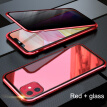 Magnetic Adsorption Metal Case Double Size Protective Glass Phone Cover for iPhone XS Max