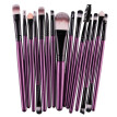 MAANGE Professional Makeup Pink Brush Set 15pcs Eye Shadow Brush High Quality Makeup Tools Kit