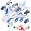 GFF kids toys Large Track Children's Toy Airplane Storage Aircraft Fire Engineering Car Set