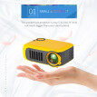 TRANSJEE 800-Lumen 1080P Movie Mini Projector Remote Control with Micro SD, HDMI