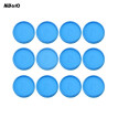 KW-trio 12pcs DIY Disc Binding Ring T-type Mushroom Hole Loose Leaf Notebook Notepad Binder Fixing Disc Buckle 10mm/15mm/20mm/25mm