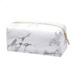 Bluelans Marble Grain Travel Makeup Cosmetic Bag Zip Faux Leather Toiletry Storage Pouch