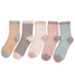 5 Pairs Plush Socks Coral Velvet Thicken Casual Socks Fuzzy Socks Short Socks Winter Socks for Women