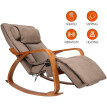 OWAYS Massage Chair 3D Full Back Massager, Rocking Design, Adjustable Pillow, Vibrating Function, 6 Massage Modes, Wooden Handrail