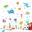 Momine DIY Removable Underwater world Wall Decal Family Home Sticker Mural Art Home