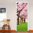 3D Cherry Blossoms Door Wall Mural Photo Wall Sticker Decal Wall Self-adhesive