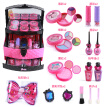 Barbie Children's Cosmetics Girl Birthday Gifts House Toys Safety Lipstick Nail Polish Eye Shadow Makeup Box Set Combination Barbie Princess Professional Portable Cosmetic Case