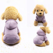 Polyester Hoodied Sweatshirts With Pocket Dog Clothes Pet Clothing Purple XL
