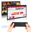 Mini 2.4GHz Wireless QWERTY Keyboard Air Mouse Touchpad Handheld Remote Control 6 Gxes Gyroscope for PC TV Android TV BOX