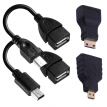 Mini Adapter Kit Micro USB OTG Connector Cable For Android Tablet Computer Digital Camera 4Pk Adapters Micro USB HDMI Mini