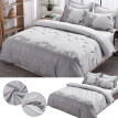 2/3 PCS Faux Embroidered Luxury Duvet Cover with Zipper Closure Single Single Double Full 3 Size Comforter Cover & Pillowsham Set