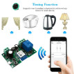 Tuya DC5V 12V 24V 32V WiFi Switch Wireless Relay Module Single-way Inching/Self-Locking Timing APP Remote Control Voice Control Co