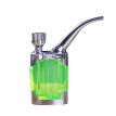 Men's Portable Smoking Pipe Mini Tobacco Pipe Small Exquisite Cigarette Holder Water Filter Dual-use Water Pipe (Green)