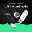 For Windows USB 3.0 Card Reader 2-in-1 Dual Slots TF Secure Digital Memory Cards Phone Computer Adapter