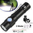 Mini Q5 LED USB Rechargeable Flashlight Torch Lamp Light 3Modes