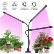 3-Head Grow Light Adjustable Arm 60 LED Light Bulb Plant Growing Lamps with Auto ON/Off 3/9/12H Intelligent Timing 10 Levels Brigh