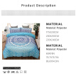 Blue  European Lines Bedding Set Queen Double Bed Size Bedclothes Comforter/Duvet/Quilt Cover Sheet Pillowcase Bed Sets
