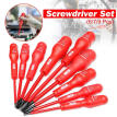 PROfettler 6/7/9 Pieces Insulation Magnetic Screwdriver Set Flathead Cross Head