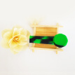 Portable Silicone Cigarette Pipe Smoking Accessory Silicone Tobacco Pipe (Black Green)