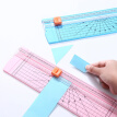 Precision Paper Cutter Safety Cutting Mat Ruler for A4 A5 Paper Photo Label Scrapbooking Trimmer for Office School