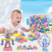 Hot sale children assembled plastic large particle building blocks creative enlightenment kids early education puzzle DIY toys w