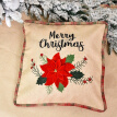 Christmas Pillow Covers Xmas Flower Car Series Cushion Cover Decorative Pillowcase Square with Invisible Zipper