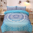 Blue Fashion European Lines Bedding Set Queen Double Bed Size Bedclothes Comforter/Duvet/Quilt Cover Sheet Pillowcase Bed Sets