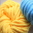 GeweYeeli Cotton Blend Polyester Knitting Yarn Weaving Crochet Thread Scarf Sweater Knitting Accessories, Yellow