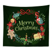 130*150cm Christmas Fashion Decorative Tapestry Christmas Wall Polyester Fabric Tapestry Hanging Cloth Dorm Home Party Decor