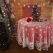 Christmas Wedding Decoration Tablecloth Snowflake Elk Lace Table Cloth Glass Table Cover Polyester Christmas Room Wedding Decor
