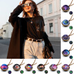 Solar System Planet Necklace Double Side Glass Cosmic Pattern Pendant Necklace Chain Necklace for Men Women Children
