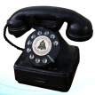 1pc Fashion Durable Resin Table Adornment Desktop Decoration Telephone Model Ornament for Home Office Cafe