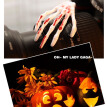 2x girl Skeleton hand bone hair clip with blood luminous Skeleton hand hair clip